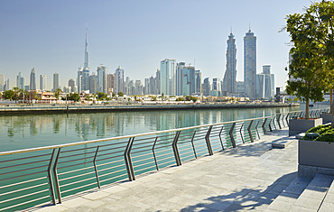 Promenade on Dubai Creek, Burj Khalifa, Emirates Park Towers, Dubai, United Arab Emirates
