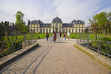 Spring, morning, Poppelsdorfer Schloss(castle) - former summer residence of elector Clemens August in Bonn, North Rhine- Westfalia, Germany, Europe