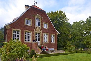 Outdoor photo, Day, Late summer, Haus Rueschhaus, J.C.Schlaun, Annette von Droste-Huelshoff, Drostemuseum, Muenster-Nienberge, Muensterland, Northrhine-Westfalia, Germany, Europe