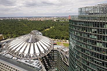 Potsdam Square, Potsdamer Platz, Sony Center roof, architect Helmut Jahn, Berlin, Germany