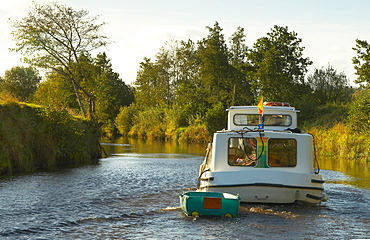 outdoor photo, with a houseboat on the Shannon & Erne Waterway, County Leitrim, Ireland, Europe