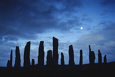 Standing Stones of Callanish, Isle of Lewis, Outer Hebrides, Western Isles, Scotland, Great Britain, Europe