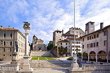 Maggiore Square, Piazza Maggiore, Feltre, Dolomites, Veneto, Italy