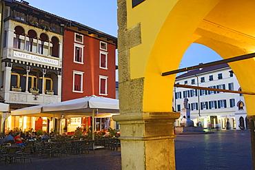 An evening on Piazza Paolo Diacono, Cividale del Friuli, Friuli-Venezia Giulia, Italy