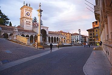 Loggia di San Giovanni on the Piazza della Liberta in Udine, Friuli-Venezia Giulia, Italy
