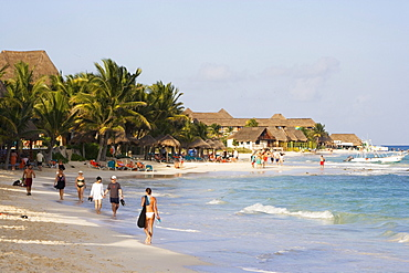 Mamitas beach in Playa del Carmen, State of Quintana Roo, Peninsula Yucatan, Mexico
