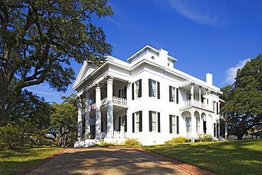 Stanton Hall, built in 1857, is a typical palatial antebellum home in greek revival style, Natchez, Mississippi, USA