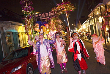 Mardi Gras Parade in the French Quarter, New Orleans, Louisiana, USA