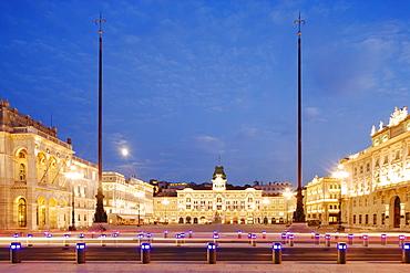 Piazza dell'Unita d'Italia, Trieste, Friuli-Venezia Giulia, Upper Italy, Italy