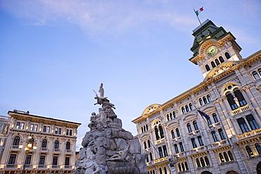 City hall on the Piazza dell'Unita d'Italia, Trieste, Friuli-Venezia Giulia, Upper Italy, Italy