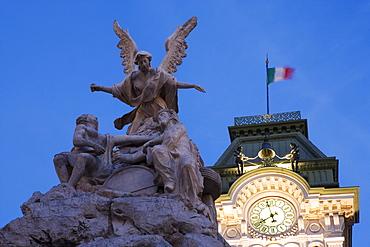 City hall auf der Piazza dell'Unita d'Italia, Trieste, Friuli-Venezia Giulia, Upper Italy, Italy