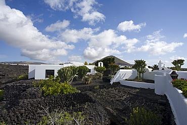 Former residence of artist and architect Cesar Manrique, museum, Fundacion Cesar Manrique, Taro de Tahiche, UNESCO Biosphere Reserve, Lanzarote, Canary Islands, Spain, Europe