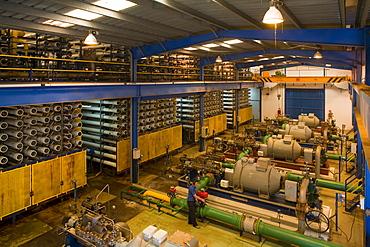 Water desalination plant, drinking water, desaladora de Inalsa, Insular de Aguas de Lanzarote, S.A., Arrecife, Lanzarote, Canary Islands, Spain, Europe