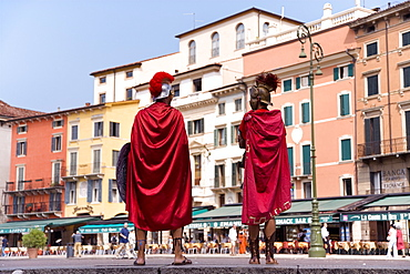 Gladiators, Piazza Bra, Verona, Veneto, Italy