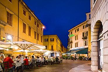 Restaurant near Piazza Bra, Verona, Veneto, Italy