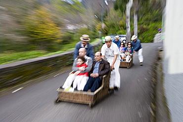 Monte Toboggan Run, Funchal, Madeira, Portugal