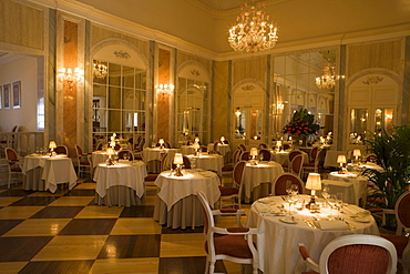 The Dining Room restaurant in Reid's Palace Hotel, Funchal, Madeira, Portugal