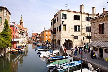 Vena Canal with boats, Chioggia, Venice, Laguna, Veneto, Italy