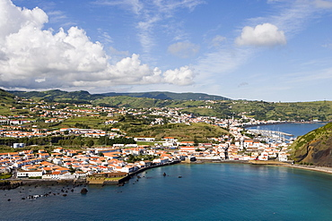 View from Monte da Guia, Horta, Faial Island, Azores, Portugal, Europe