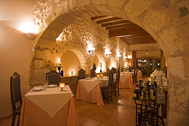 Restaurant in Son Amoixa Vell Hotel Rural, near Manacor, Mallorca, Balearic Islands, Spain, Europe
