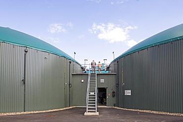 biogas plant, near Hanover, Germany