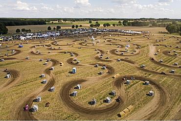lawnmower tractor race, Thoense, Hanover region, Lower Saxony, northern Germany