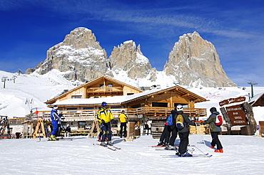 Rifugio Salei, Sella Joch, Langkofel, Sella Ronda, Groeden, South Tyrol, Italy