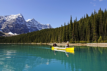 Kayaking, Moraine Lake, Banff National Park, Alberta, Canada