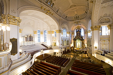 Saint Michaelis church, called Michel, Hamburg, Germany, Europe