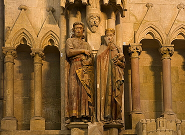 Sculptures of Eckard II and Uta in Naumburg cathedral, Cathedral of St. Peter and Paul, Naumburg an der Saale, Saxony-Anhalt, Germany, Europe