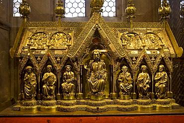 Interior view of the Elisabeth church in Marburg, Hesse, Germany, Europe
