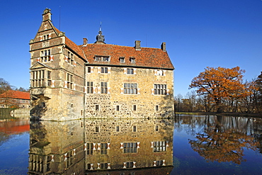Vischering castle, Luedinghausen, Muensterland, North Rhine-Westphalia, Germany