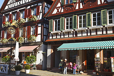 Old town with half-timbered houses, Wolfach, Baden-Wurttemberg, Germany