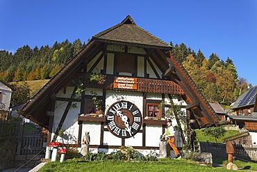 World's largest cuckoo clock, Schonach im Schwarzwald, Baden-Wurttemberg, Germany