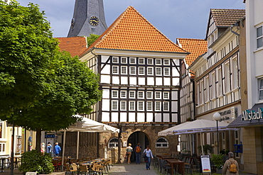 Old city of Hattingen with old town hall (1576), Ruhrgebiet, North Rhine-Westphalia, Germany, Europe