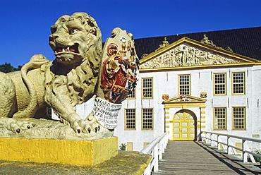 Norderburg castle, Dornum, Eastern Friesland, North Sea, Lower Saxony, Germany