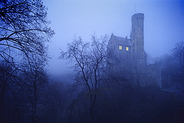 Lichtenstein castle, Swabian Mountains, Baden-Wuerttemberg, Germany