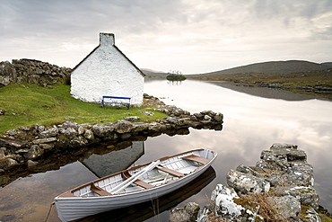 Cottage near Casla, Connemara, Co. Galway, Ireland, Europe