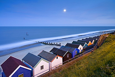 Beach huts in Southwold, East Anglia, Suffolk, England, Great Britain, Europe