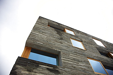Facade, Rocksresort, Laax, Canton of Grisons, Switzerland