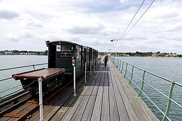 Hythe Pier Railway, Southampton, Hampshire, England, United Kingdom