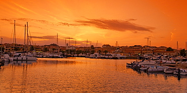 Italy Sardinia Palau harbour sunset