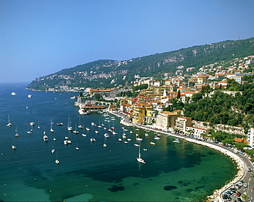 French Reviera, Villefranche sur Mer, panorama