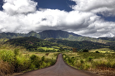Landscape near Haleiwa, Oahu, Pacific Ocean, Hawaii, USA