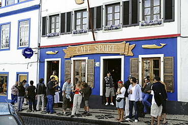 Peter Sport cafe at Horta harbour, Faial Island, Azores, Portugal