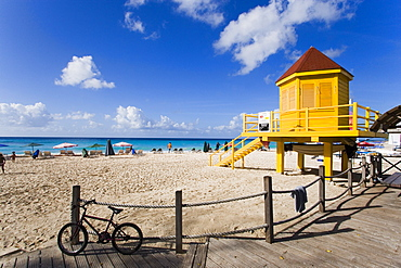 Watch tower at Dover Beach, Barbados, Caribbean