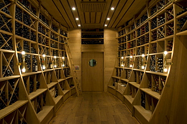 Wine cellar with vintage wines, Palais Coburg, Vienna, Austria