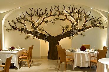 Fine dining in Palais Coburg Restaurant, Vienna, Austria