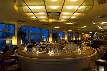 Sky bar and Sky Restaurant with view of St. Stephans Cathedral, Vienna, Austria