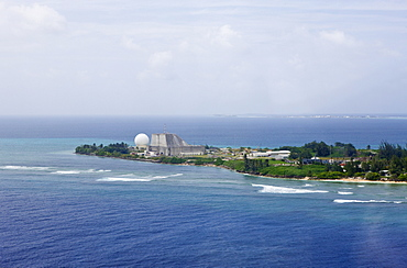 Aerial View of Kwajalein, Marshall Islands, Kwajalein Atoll, Micronesia, Pacific Ocean